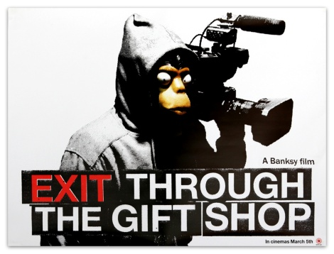 Banksy Exit Through the Gift Shop limited movie poster