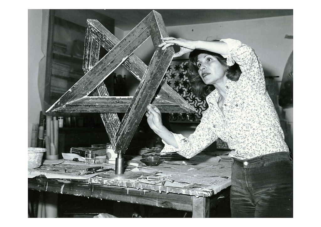Monir in her studio, 1975